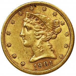 USA, 5 Dollars San Francisco 1901 - Liberty Head
