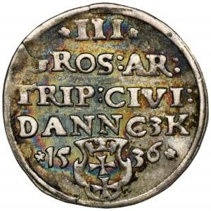 Sigismund I the Old, 3 Groschen Danzig 1536