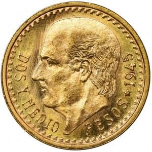 Mexico, Republic, 2 1/2 Pesos 1945