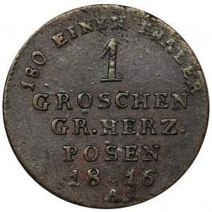 Wielkie Księstwo Poznańskie, Fryderyk Wilhelm III, 1 Grosz Berlin 1816 A