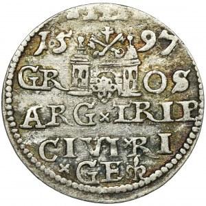 Sigismund III Vasa, 3 Groschen Riga 1597 - UNLISTED