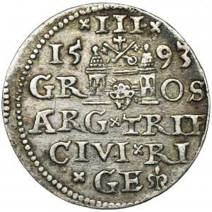 Zygmunt III Waza, Trojak Ryga 1593 - NIENOTOWANY