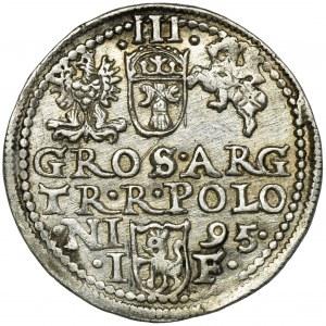 Sigismund III Vasa, 3 Groschen Olkusz 1595
