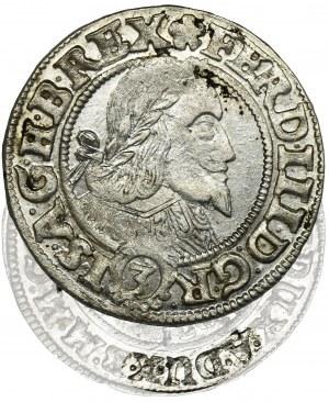 Śląsk, Panowanie habsburskie, Ferdynand III, 3 Krajcary Wrocław 1655 - NIENOTOWANY