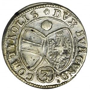 Austria, Ferdynand Karol, 3 Krajcary Hall 1643