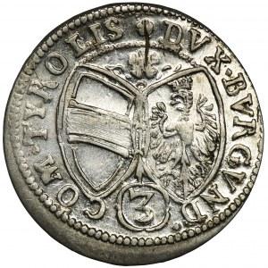 Austria, Ferdynand Karol, 3 Krajcary Hall 1648