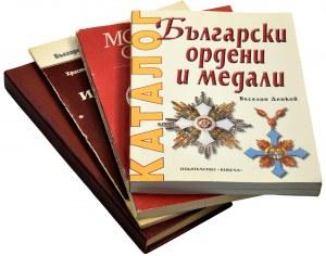 Zestaw literatury rosyjskojęzycznej o medalach i monetach (4 szt.)