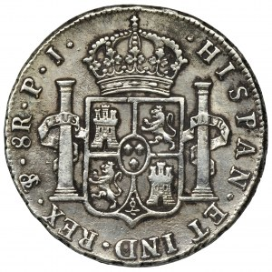 Hiszpania, Karol IV, 8 Reali 1808 TH