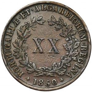Portugalia, Maria II, 20 Reis 1850