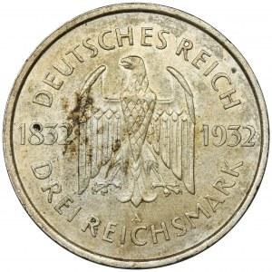 Germany, Weimar Republic, 3 Mark Berlin 1931 A
