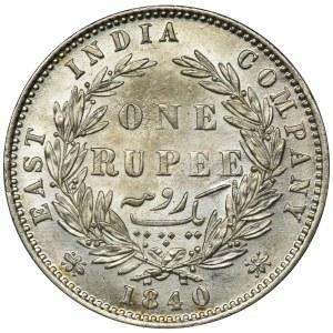 British India, Victoria, 1 Rupee 1840