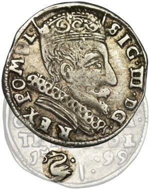 Sigismund III Vasa, 3 Groschen Vilnius 1599 - RARE, Swan