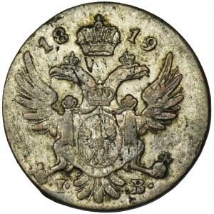Królestwo Polskie, 5 groszy polskich 1819 IB - rzadszy rocznik