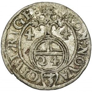 Ryga pod panowanie szwedzkim, Krystyna, Półtorak Ryga 1644