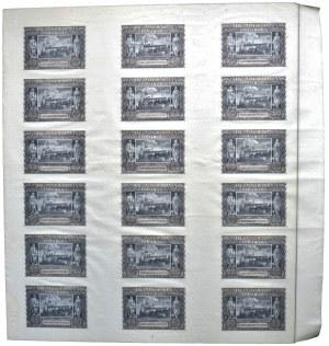 Arkusz 20 złotych 1940 bez serii i numeratora (18szt.)