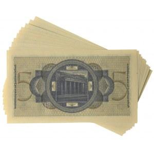 Niemcy, zestaw 5 Reichsmark (1939-44) - kolejne numery - (10 szt.)