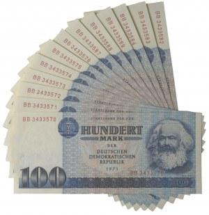 Germany (DDR), set of 100 mark 1975 (13 pcs.)