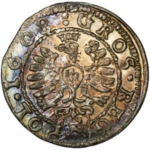 Zygmunt III Waza, Grosz Kraków 1608 - PIĘKNY
