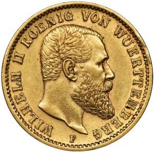 Germany, Wirtemberg, Wilhelm II, 20 Mark Stuttgart 1900 F