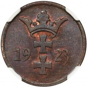 Wolne Miasto Gdańsk, 2 fenigi 1923 - NGC MS65 BN