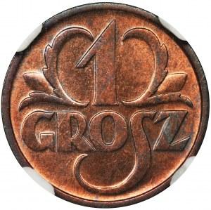1 grosz 1936 - NGC MS64 RB