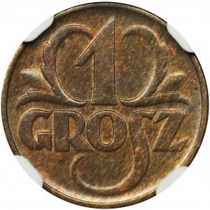 1 grosz 1935 - NGC MS65 BN
