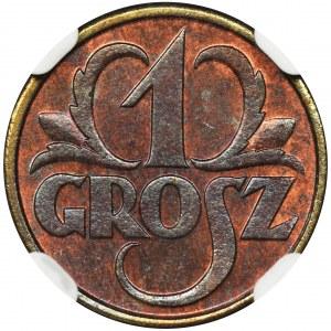 1 grosz 1931 - NGC MS66 BN