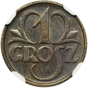 1 grosz 1930 - NGC MS66 BN