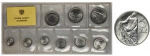 Rybak 5 złotych 1974 - na TRAWCE - RZADKOŚĆ - w zestawie PRL