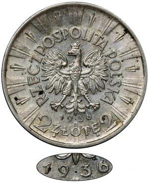 Piłsudski, 2 złote 1936 - RZADKIE