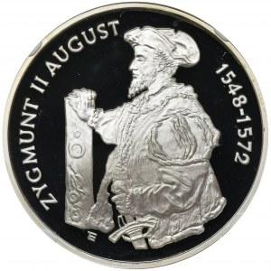 10 złotych 1996, Zygmunt II August, Półpostać - NGC PF68 ULTRA CAMEO - RZADKA
