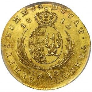 Duchy of Warsaw, Ducat Warsaw 1812 IB - PCGS AU55