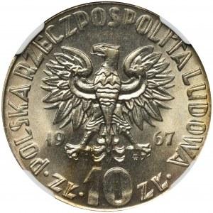 10 złotych 1967 Kopernik - NGC MS67