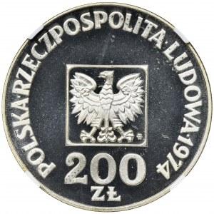 200 złotych 1974 XXX Lat PRL - NGC PF69 ULTRA CAMEO