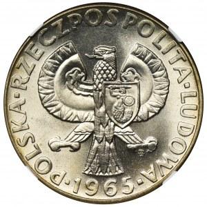PRÓBA, 10 złotych 1965 Siedemset lat Warszawy - NGC MS67