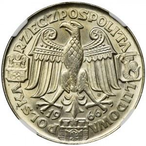 PRÓBA, 100 złotych 1966 Mieszko i Dąbrówka - NGC MS64
