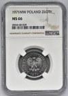 1 złoty 1971 - NGC MS66