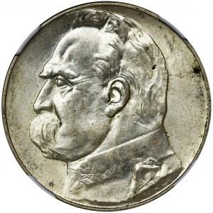 Piłsudski, 5 złotych 1936 - NGC MS63