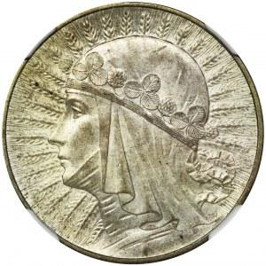 Głowa Kobiety, 5 złotych 1934 - NGC MS61
