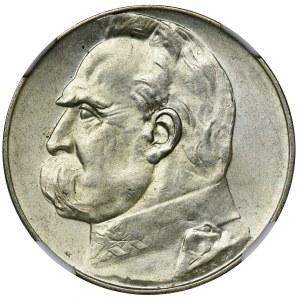Piłsudski, 5 złotych 1936 - NGC MS62