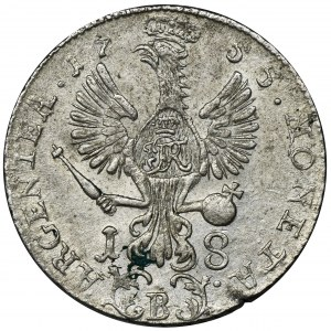 Germany, Kingdom of Prussia, Friedrich II, 18 Groschen Breslau 1755 B