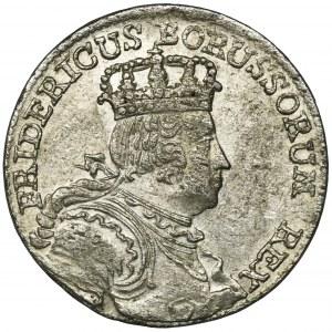 Niemcy, Królestwo Prus, Fryderyk II, Szóstak Wrocław 1756 B