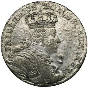 Niemcy, Królestwo Prus, Fryderyk II, Szóstak Wrocław 1757 B