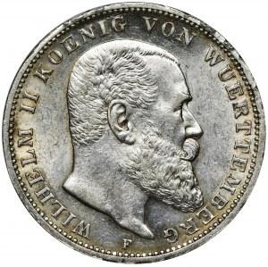 Germany, Württemberg, Wilhelm II, 3 Mark Stuttgart 1912 F