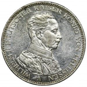 Niemcy, Królestwo Prus, Wilhelm II, 3 Marki Berlin 1914 - jak lustrzanka