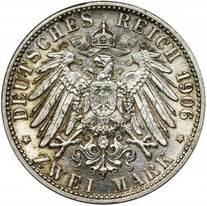 Niemcy, Badenia, Fryderyk I, 2 Marki Karlsruhe 1906
