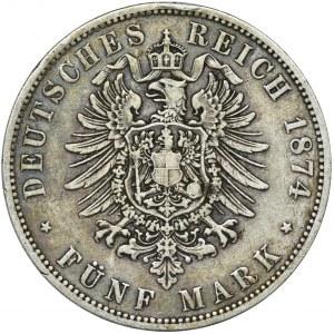 Niemcy, Królestwo Prus, Wilhelm I, 5 Marek Berlin 1874 A