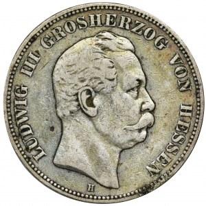 Niemcy, Hesja, Darmstadt, Ludwik III, 5 Marek Darmstadt 1876 H - RZADSZE