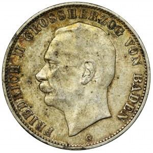 Niemcy, Badenia, Fryderyk II, 5 Marek Karlsruhe 1908 G
