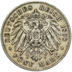 Niemcy, Saksonia, Albert, 5 Marek Muldenhütten 1898 E